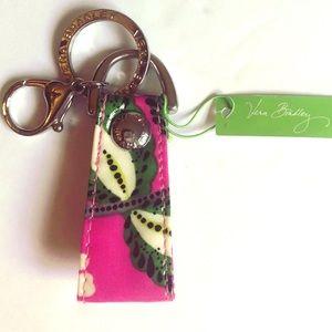 NWT Vera Bradley loop keychain in Priscilla Pink